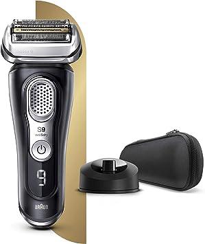Braun Series 9 9340s - Afeitadora Eléctrica Hombre Última Generación, Afeitadora Barba Recargable, Inalámbrica, Base de Carga, Funda, Seco/Mojado, Negro: Amazon.es: Salud y cuidado personal