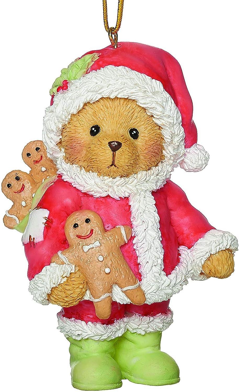 Roman Cherished Teddies, Santa Teddy Bear Ornament, 3.25