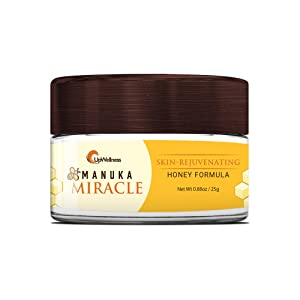 UpWellness: Manuka Miracle - Skin Care Balm with Manuka Honey, Olive Oil, and Beeswax - 25g - 5 Essential Ingredients for Skin Regeneration - Supports Skin Repair and Protection - Physician Formulated