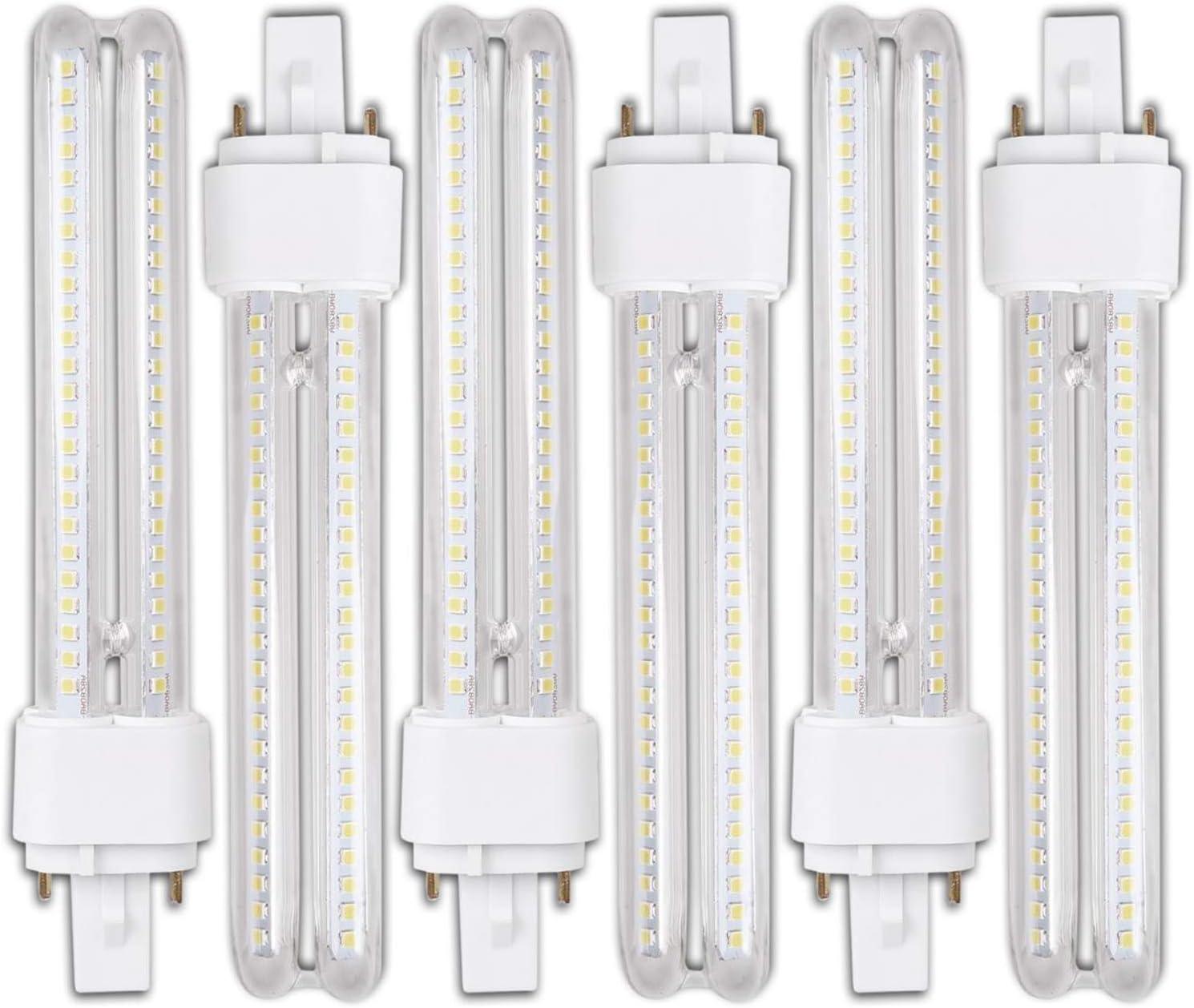 Genetic H268 15W- Pack 6 Bombillas PLC LED 15W Luz Fria A+ G24 2Pin H268: Amazon.es: Iluminación