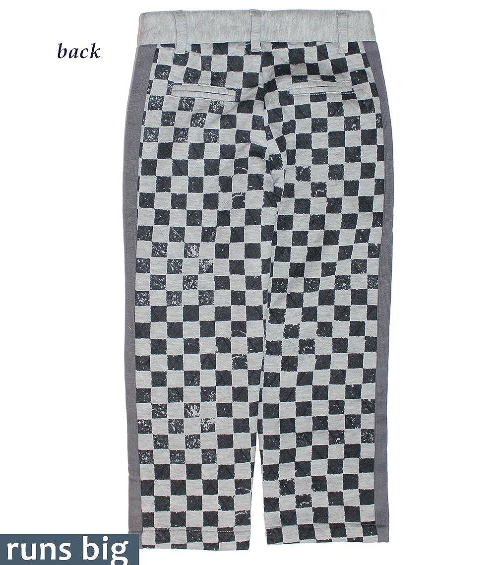 Mini Shatsu Big Boys Quilted Checker Pants c