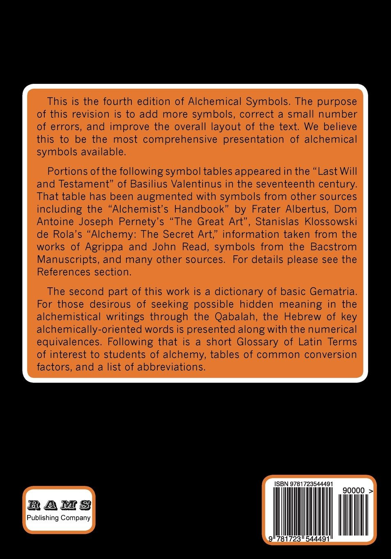 Alchemical Symbols Rams Library Of Alchemy Volume 21 Philip