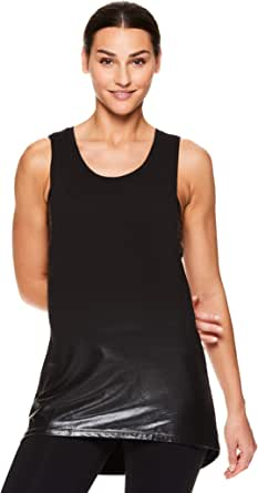 gaiam Women's Mesh Back Yoga Muscle Tank Top - Sleeveless Performance Workout Shirt