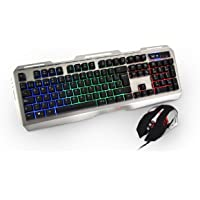 Kit Teclado Y Mouse Alambrico Gamer Naceb CYBORG NA-0911 Español Led Multicolor