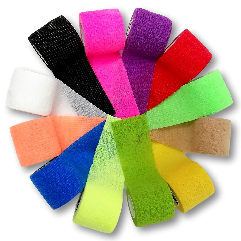 LisaCare lavoro larghezza 5 cm Benda elastica coesiva per persone e animali per sport equitazione colori e motivi assortiti autoadesiva