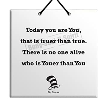 Amazoncom Dr Seuss Quote Ceramic Wall Hanging Art Sign 15x15 Cm