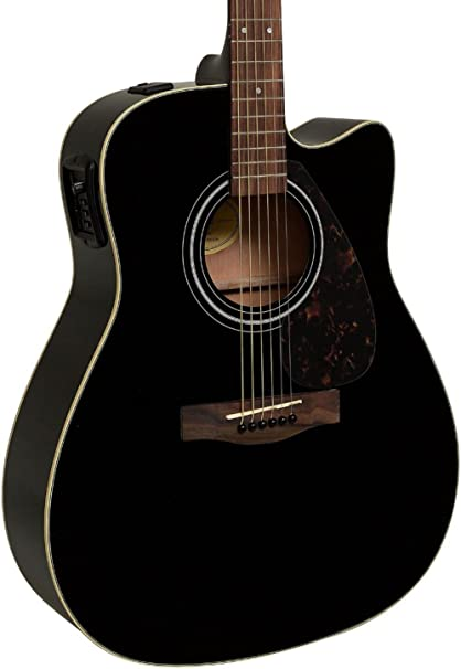 Yamaha FX335C Dreadnought - Guitarra acústica, color negro: Amazon ...