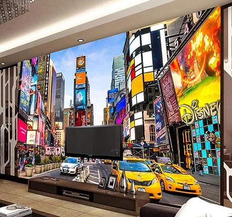 Custom 3d Photo Wallpaper Times Square Nueva York Moderno