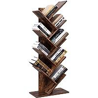 Vordern Tree Bookshelf, 8-Tier Floor Standing Bookcase, with Wooden Shelves for Living Room, Home Office Furniture…