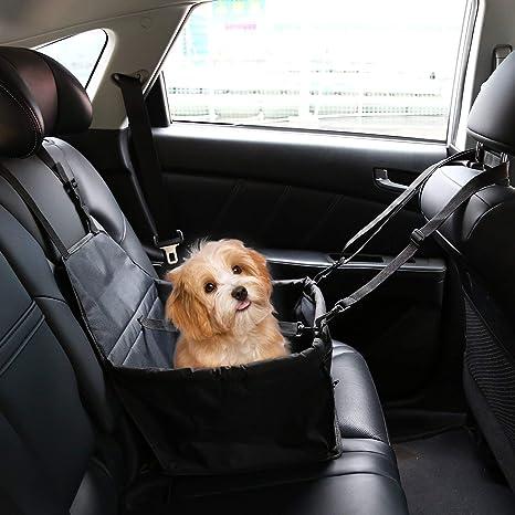 IvyLife Asiento del Coche de Seguridad para Perro y Gato Cubierta de Asiento Impermeable de Automóvil
