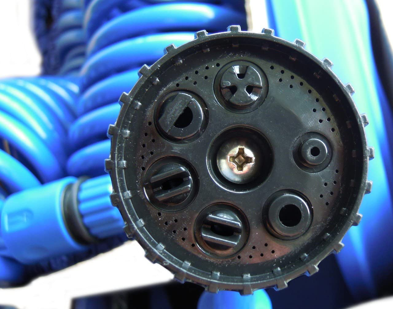 Yachticon Tuyau dArrosage Spirale Maxi 15 m Pistolet Multi-Jets 7 Positions