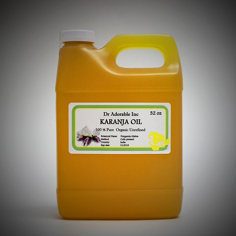 Aceite de karanja orgánico 100% puro 32 oz/1 cuarto de galón