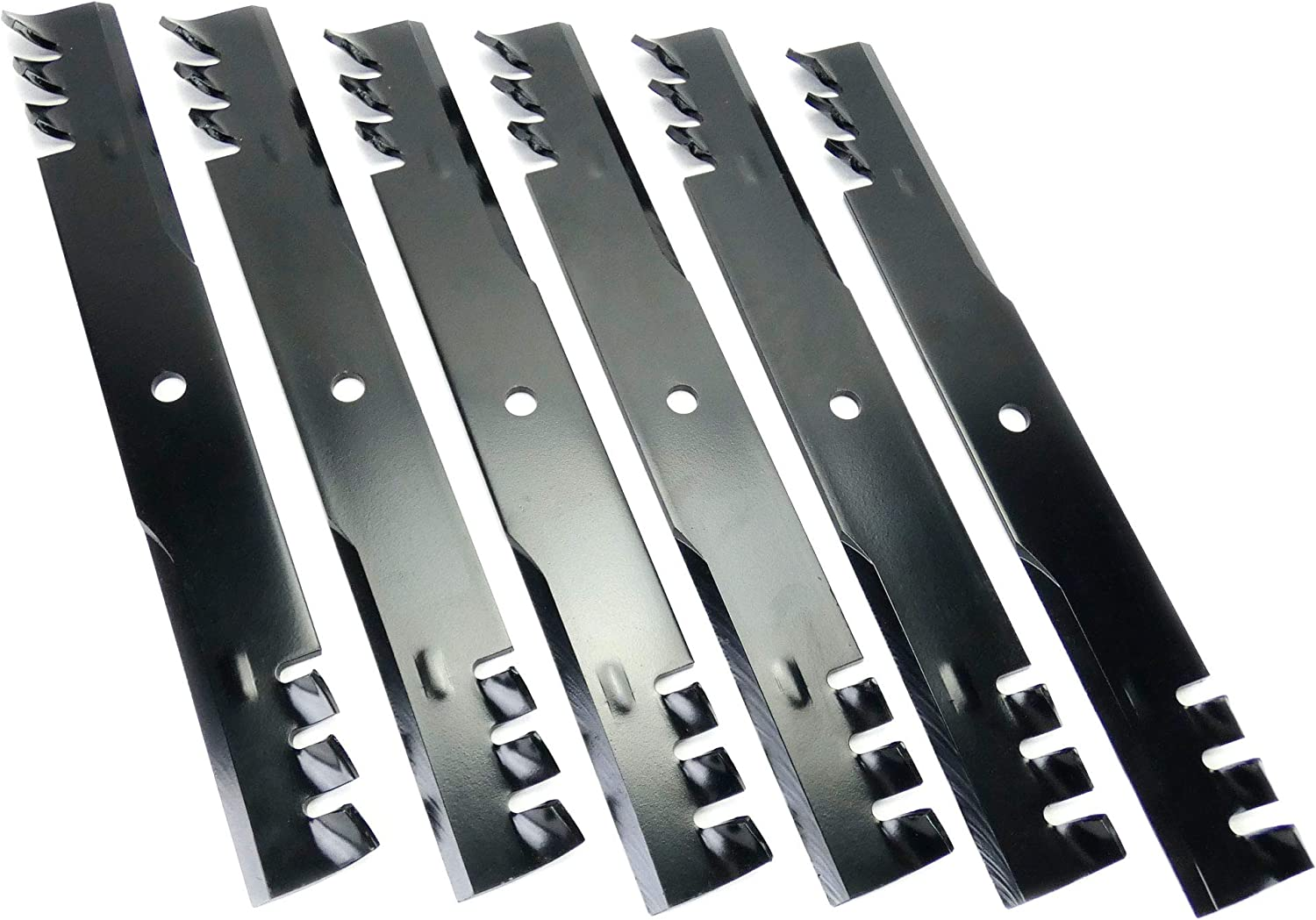 "6-Pack Toothed Mulching Blades Replaces Bad Boy 038-6050-00 for 60/"" deck"