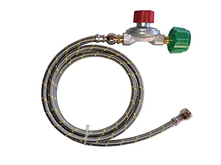Adjustable 0 to 10psi Propane Regulator LP LPG Gas with 6ft