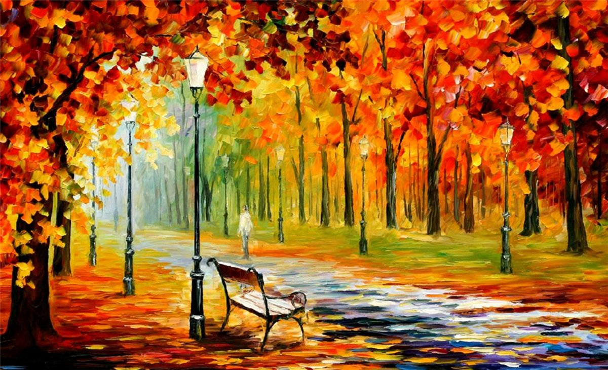 100% Hand Painted Oil Paintings on Canvas Contemporary Abstract Oil paintings Modern Wall Art Paintings Autumn Thick Decor (36X60 Inch, Decor 1) by Bingo Arts