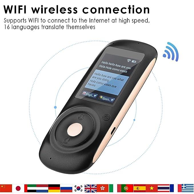 amazon com 2 4 touch screen intelligent voice translator device