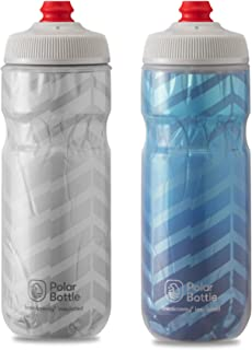 product image for Polar Bottle 2 Pack Breakaway Bolt Insulated 20 Oz Water Bottle - White/Silver and Cobalt Blue/Silver Combo - BPA Free, Cycling & Sports Squeeze Bottle with Tri-Layer Insulation