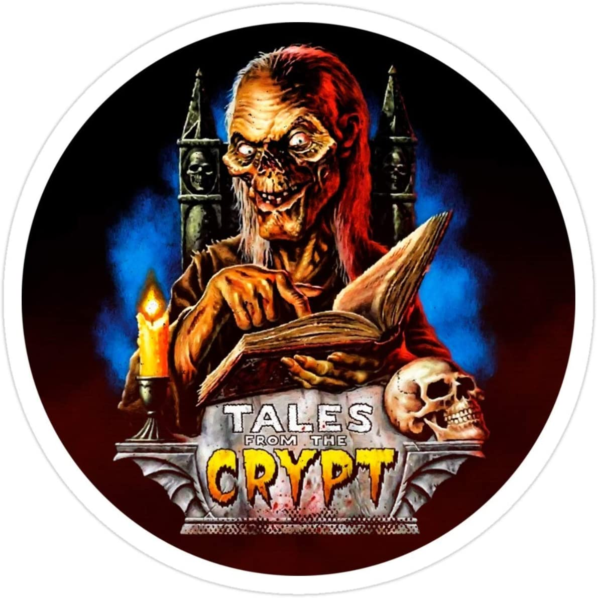 Stickers Tales from The Crypt - Scary Movies Wall (3 Pcs/Pack) 3x4 Inch Water Bottle Decals Car