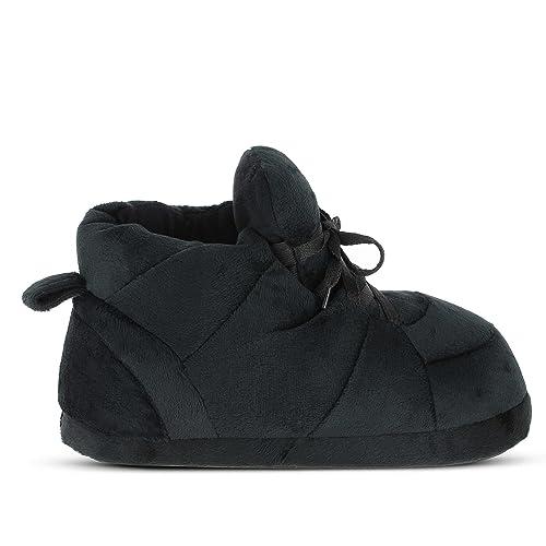 Sleeperz – Zapatillas de casa originales y divertidas de mujer – All black –
