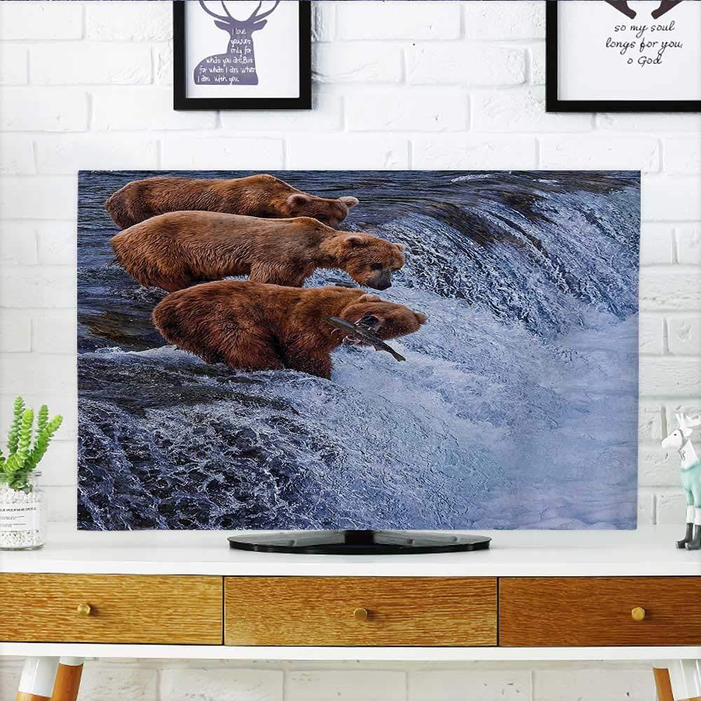 L-QN あなたのテレビをトロピカルサバンナで首を保護 ヒビタネイチャーグリーン オレンジ テレビを保護 幅19 x 高さ30 インチ/テレビ 32インチ W36 x H60 INCH/TV 65