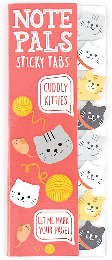Ooly Note Pals Mini Sticky Tabs - Cuddly Kitties - 120 Paper Tabs