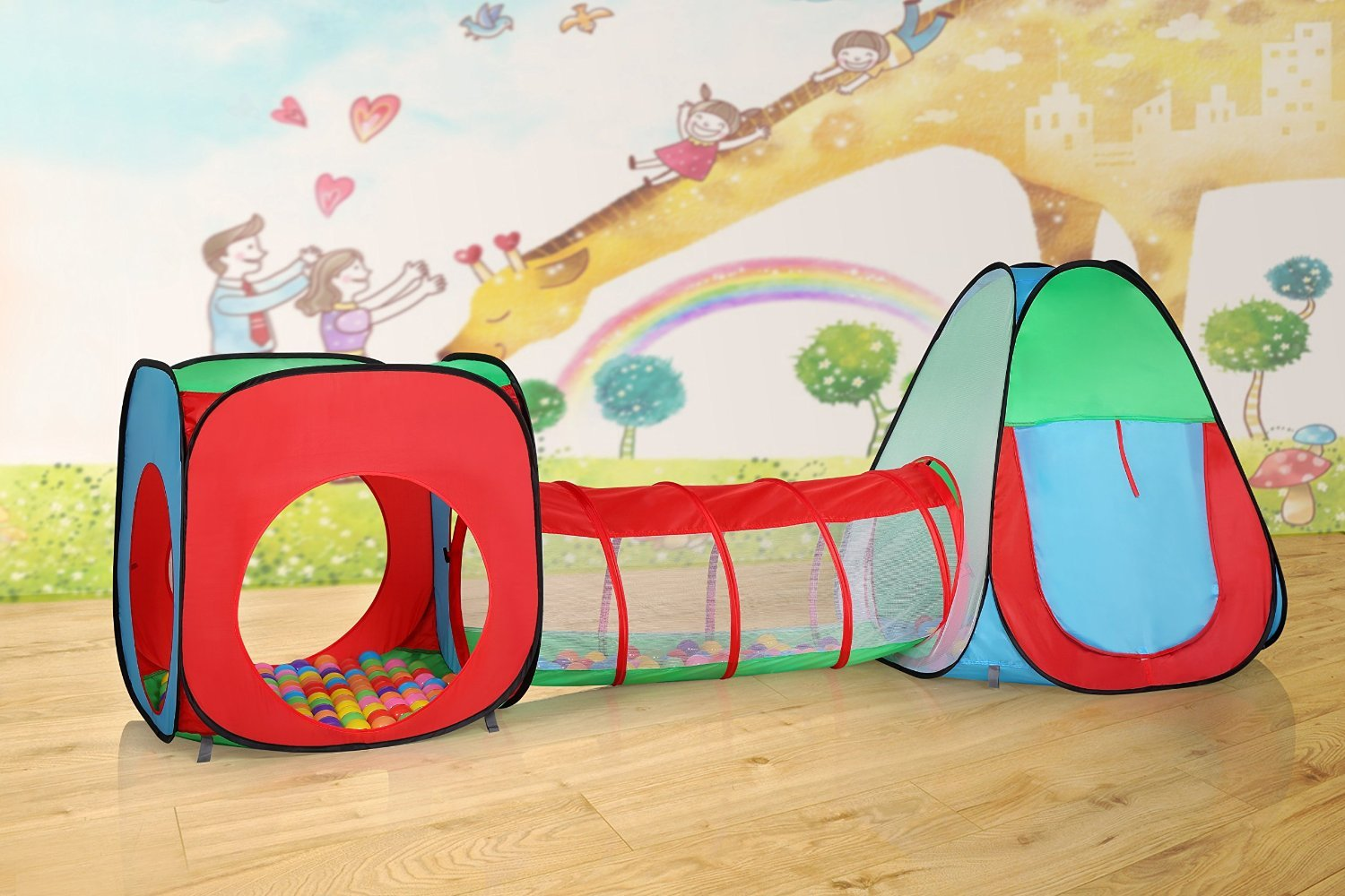 Amazon.com LifeVC Playhouse Tent with Tunnel for Toddlers Toys u0026 Games & Amazon.com: LifeVC Playhouse Tent with Tunnel for Toddlers: Toys ...