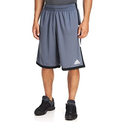 Adidas Men's Run The Court Shorts - Onix, Onix/Black/White, Medium