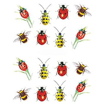 818c2bb6d968a Amazon.com: Desirca 1Pcs Summer Nail Art Water Transfer Sticker Decals  Wraps Tattoo Bee Sliders For Nail Bee Manicure Decoration Stz627: Beauty