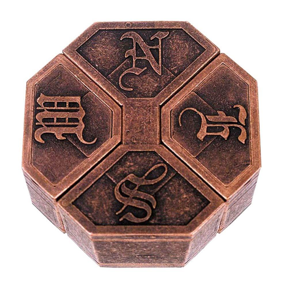 Dastrues Vintage Metal Cast Puzzle Box Lock Puzzle Toy IQ EQ Mind Brain Teaser Kid Gift