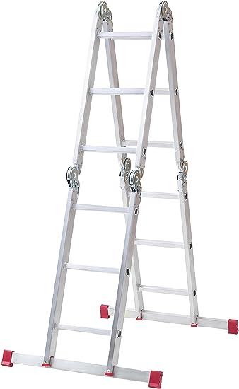 Abru 12 Way Multi Purpose Combination Ladder With Platform Heavy Duty 150kg Load Capacity En131 Certification 5 Year Guarantee Amazon Co Uk Diy Tools