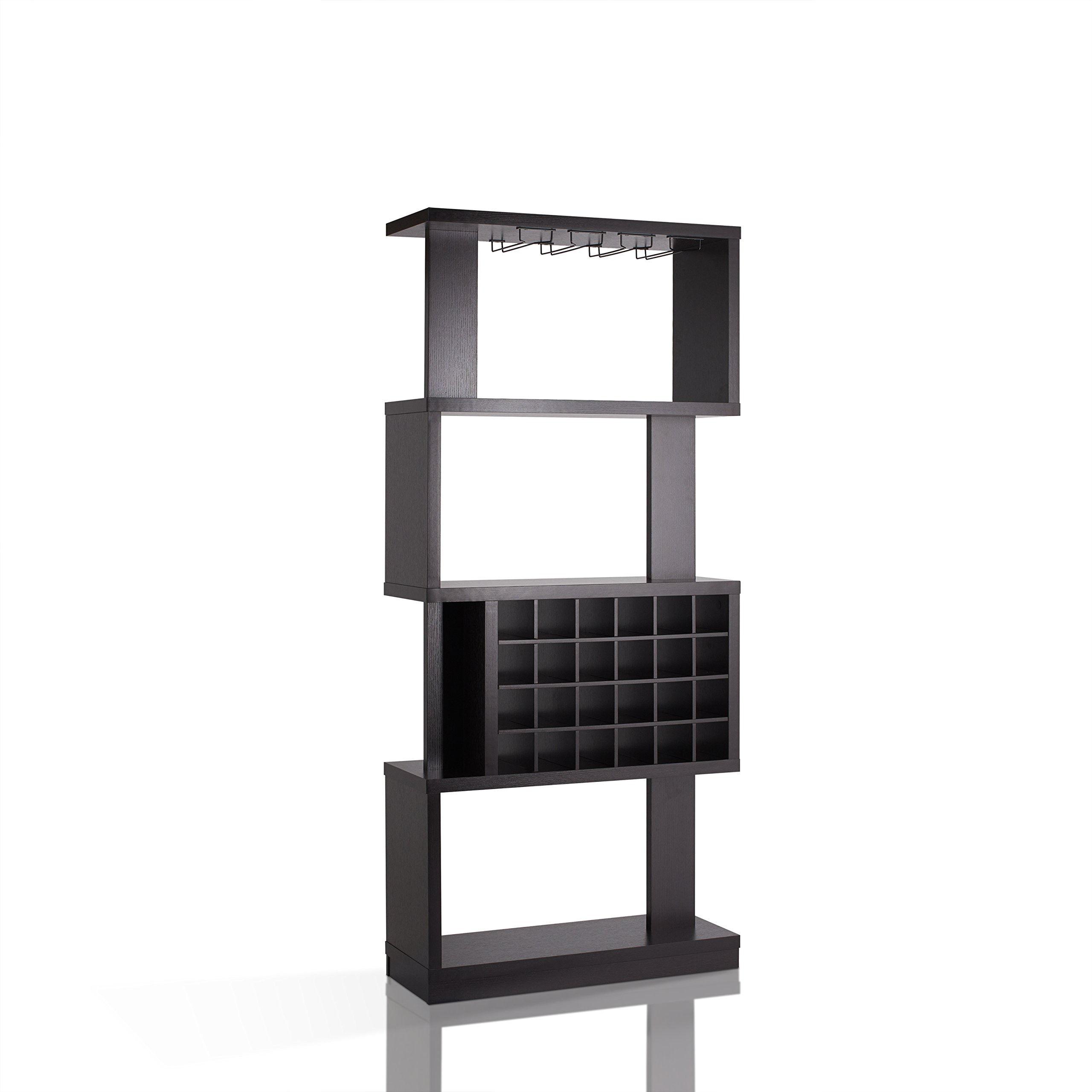 HOMES: Inside + Out IDI-14989 Cappuccino Contemporary Larson Wine Stand