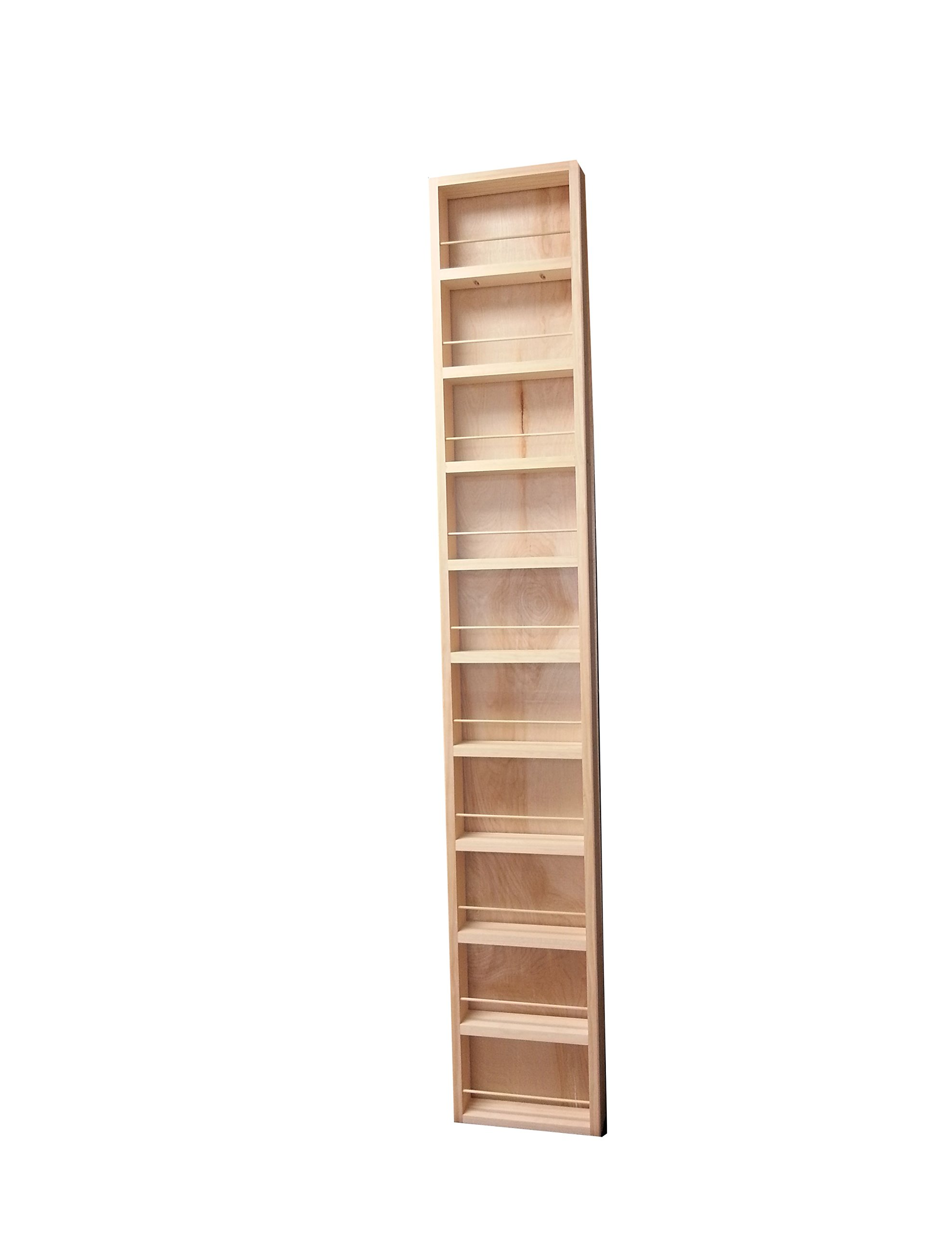 Wood Cabinets Direct Fulton Premium on The Wall Spice Rack, 69'' Height x 11'' Width x 3.5'' Deep