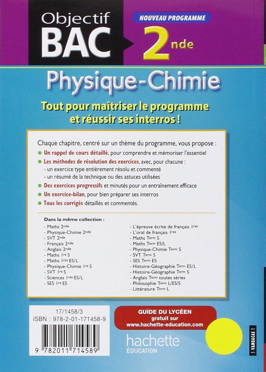 guide abc bac physique chimie 2de