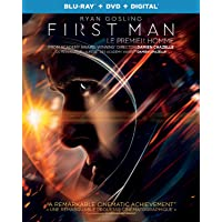 First Man [ Blu-ray + DVD + Digital] (Bilingual)