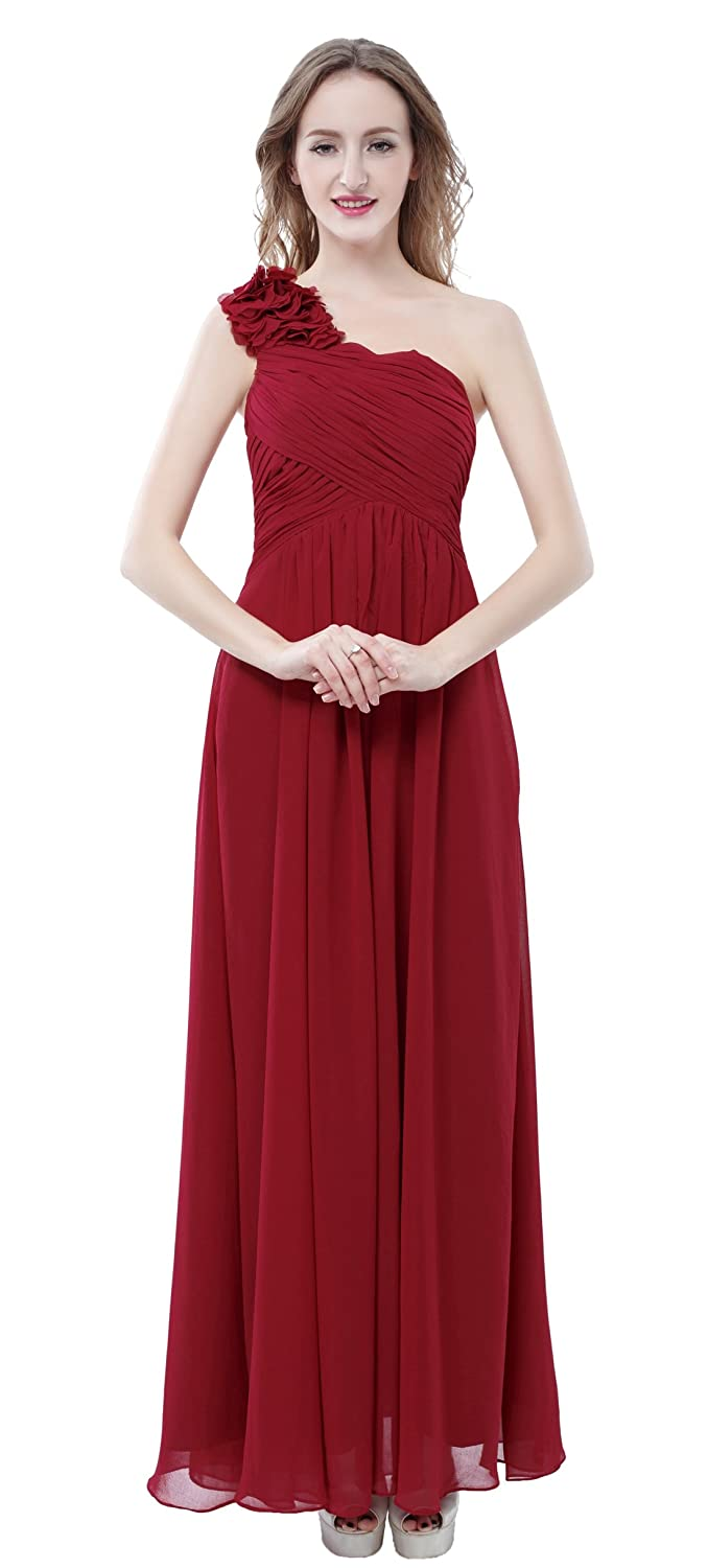 Edmoc womens one shoulder with flower chiffon party prom edmoc womens one shoulder with flower chiffon party prom bridesmaid dress outlet ombrellifo Gallery