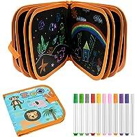 E-More uitwisbaar krabbelboek, draagbaar schrijfbord voor kinderen Speelgoed Dubbelzijdig schetsblok Schilderboek met 12…