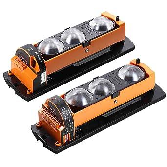 ALEAN Alámbrico Fotoeléctrico Dual 3 Haz Detector Activo Infrarrojo Al Aire Libre Distancia De 50m/