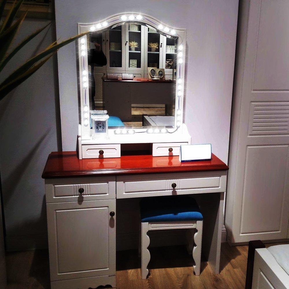 Binen Hollywood Style Mirror LED Light, 9.8FT Vanity Mirror Lights Kit Dressing  Table Light