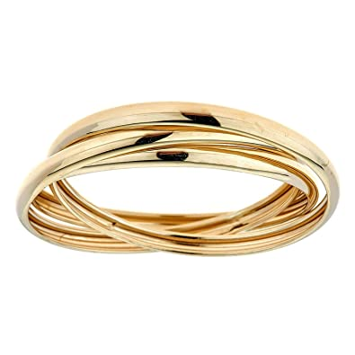 7a6ecb9eb5498 Zahaav Jewelry 10KT Solid Yellow Gold Rolling Band Thumb Ring