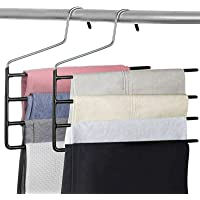 Pants Hanger Multi-Layer Jeans Trouser Hanger Closet Stainless Steel Rack Space Saver for Tie Scarf Shock Jeans Towel…