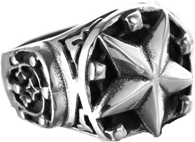 Bishilin 6mm Black Mens Stainless Steel Rings Matte Beveled Edges High Polished Wedding Bands Size:13