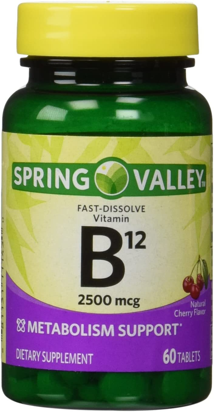 Spring Valley - Vitamin B-12 2500 mcg, Sublingual, 60 Microlozenges