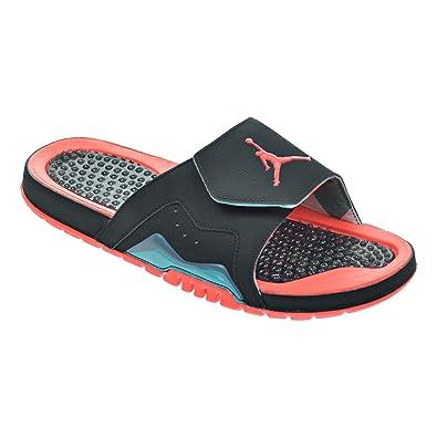 ed8addb0843bf Jordan Hydro VII Retro Men s Sandals Black Infrared 23 Blue Graphite 705467 -023