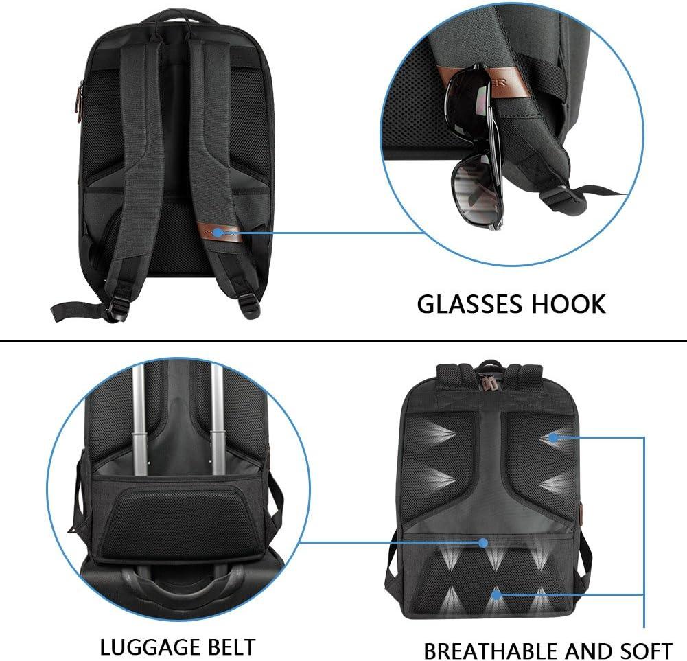 KROSER Sac /à Dos pour Ordinateur Portable jusqu/à 17,3 Imperm/éable Sac /à Dos de Voyage Scolaire Sac /à Dos Loisirs pour Affaires//Universit/é//Femmes//Hommes Laptop Backpack