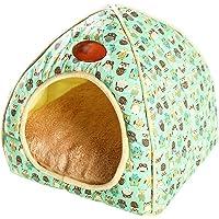 TianBin Fermé Pliable Nid d'animal Automne et Hiver Chaud Chat Maison La Mode Lit de Chien (Vert, XL)