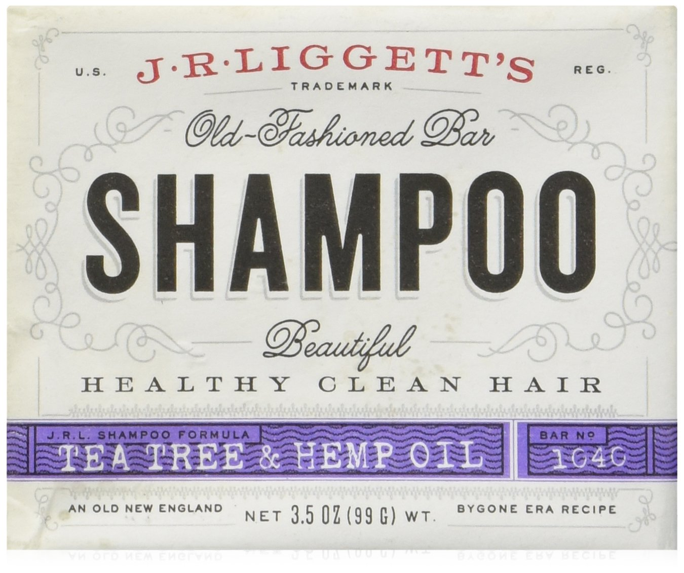 Shampoo Tea Tree & Hemp Oil Formula J.R. Liggett 3.5 Oz Bar Soap by J.R. Liggett