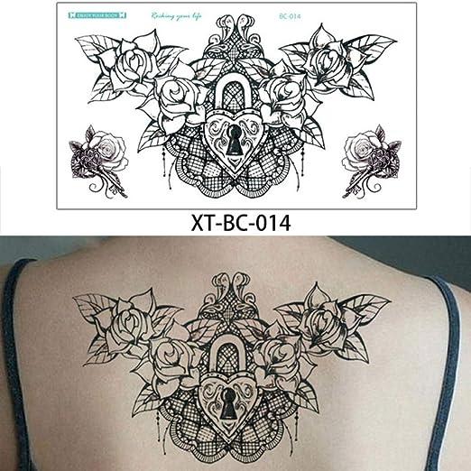 adgkitb 3 Piezas Pecho Cuerpo Tatuaje Temporal Impermeable Joyería ...