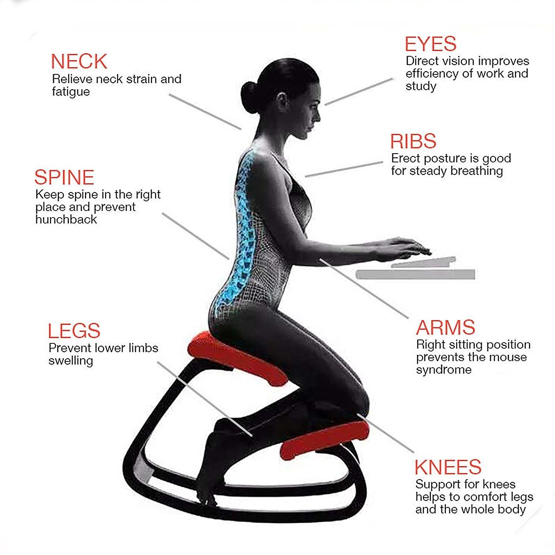 Amazon VEVOR Ergonomic Kneeling Chair Beech wood Ergonomic