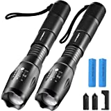 URPOWER Tactical Flashlight Super Bright CREE LED Flashlight Zoomable Tactical Flashlight Rainproof Lighting Lamp Torch…
