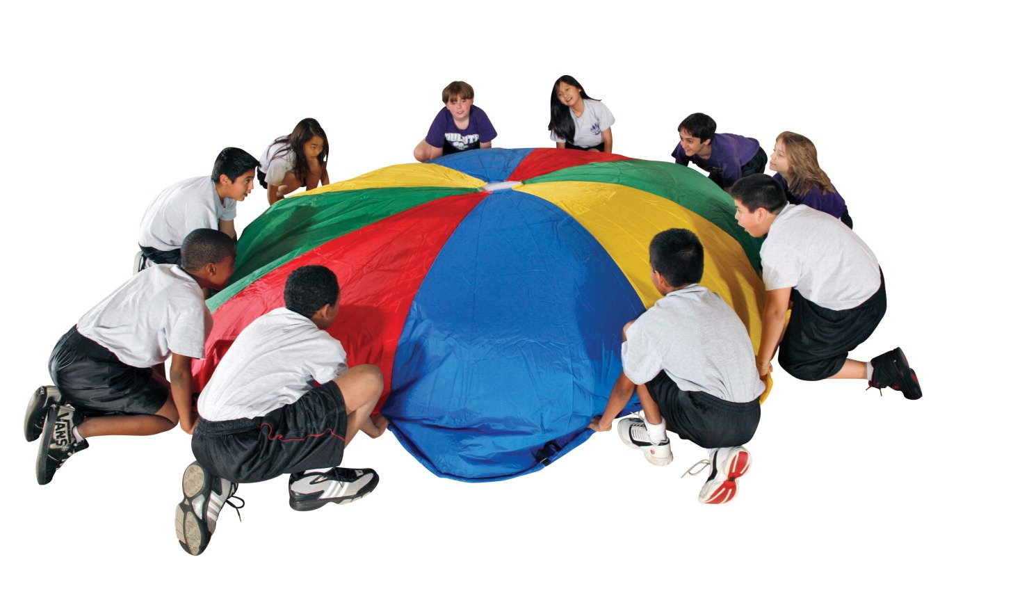 School Smart Durable Nylon Parachute with Carrying Bag - 24 foot - 20 Handles